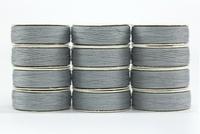 So Fine! #50 #408 Silver. M-style Bobbins. 1 Dz.