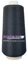 #999 Black - Polyarn 8,500 yd. jumbo cone