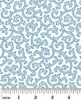 Benartex White and Blue