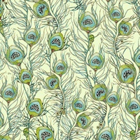 Quilting Treasures Pretty As A Peacock Green