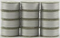 SuperBOBs #623 Silver. L-style Bobbins. 1 Dz.