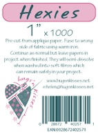 "Pre-Cut Iron On Hexies By Hugs' N Kisses (1"" X 1000)"