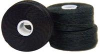 #138 Bonded Nylon M-Style Bobbins - #001 Black  1 Dz.
