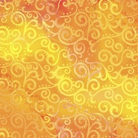 Quilting Treasures Ombre Scroll Gold