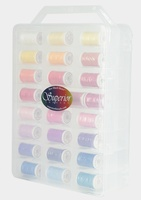 Sew Sassy Set of 50 Spools with Case 100 yds. per spool