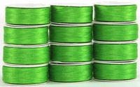 MasterPiece #128 Green with Envy #50/2 L-style Bobbins. 1 Dz.
