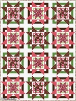 RJR Lily's Garden Quilt Kit-Pink Version