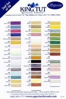 King Tut Cotton Thread Color Card. Second Set Of 50 Colors