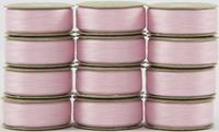 SuperBOBs #628 Baby Pink M-style Bobbins. 1 Dz.