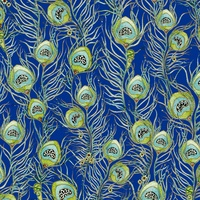Quilting Treasures Pretty As A Peacock Navy