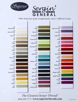 Sergin' General Thread Color Card