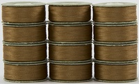 SuperBOBs #618 Medium Brown. L-style Bobbins. 1 Dz.