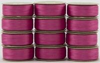 SuperBOBs #604 Dark Pink M-style Bobbins. 1 Dz.