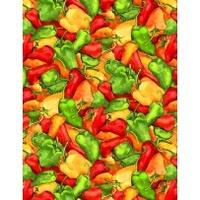 Wilmington Prints Caliente Peppers Multi