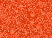 Quilting Treasures Daisy Dark Orange