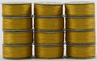 SuperBOBs #602 Gold. L-style Bobbins. 1 Dz.