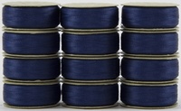 SuperBOBs #635 Medium Blue M-style Bobbins. 1 Dz.