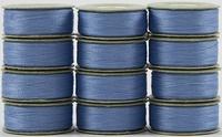 SuperBOBs #610 Light Blue. L-style Bobbins. 1 Dz.