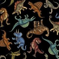 Quilting Treasures Jurassic Jungle Black Multi