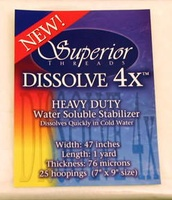 Dissolve-4X Water Soluble Stabilizer (47 In. Wide X 1 Yd. Pack)