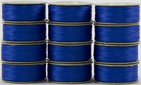 SuperBOBs #636 Bright Blue. L-style Bobbins. 1 Dz.