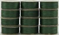 SuperBOBs #612 Green. L-style Bobbins. 1 Dz.