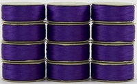 SuperBOBs #606 Dark Purple M-style Bobbins. 1 Dz.