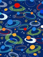 Exclusively Quilters Spaced Out Navy