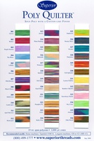 Poly Quilter Polyester Thread Color Card