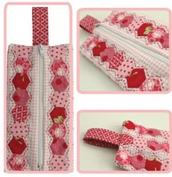Pattern: Hexie Club-Zipper Pouch By Hugs 'N Kisses. (H-70)
