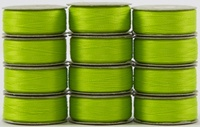 SuperBOBs #644 Lime Green M-style Bobbins. 1 Dz.