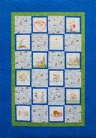 Follow Me Baptism Quilt Kit-Blue Version
