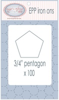 "EPP Pre-Cut Iron Ons By Hugs' N Kisses (3/4"" Pentagon x 100)"