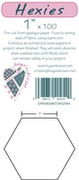 "Pre-Cut Iron On Hexies By Hugs' N Kisses (1"" X 100)"
