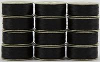 SuperBOBs #625 Black. L-style Bobbins. 1 Dz.