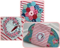 Pattern: Hexie Club-Pencil Case By Hugs 'N Kisses. (H-71)