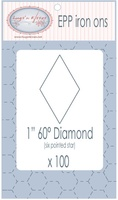 "EPP Pre-Cut Iron Ons By Hugs' N Kisses (1"" Diamond x 100)"