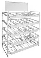 Empty 25-Slot Display Rack. Each Slot Holds 5 Spools. (8513-W)