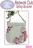 Pattern: Redwork Club-Spring Clip Purse By Hugs 'N Kisses. (H-76)