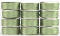 MasterPiece #131 Monet Green #50/2 L-style Bobbins. 1 Dz.