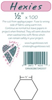 "Pre-Cut Iron On Hexies By Hugs' N Kisses (1/2"" X 100)"