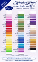MasterPiece Cotton Thread Color Card Original 50 Colors
