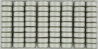 SuperBOBs #623 Silver M-style Bobbins. 1/2 Gross.