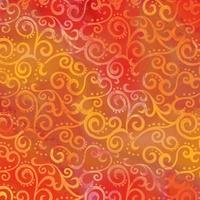 Quilting Treasures Ombre Scroll Orange