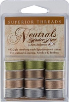 MasterPiece #50 Neutral Set Dark L-style Bobbins. 1 Dz.