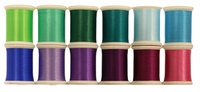 Art Studio Colors Flower Garden Set 12 Spool.s#300 Series 500 yd. Spool. Polyester Thread