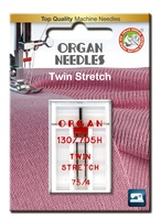 #75/4.0 Twin Stretch x 1 Needle