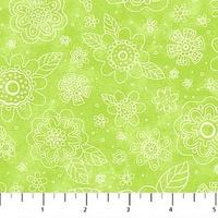 Northcott Blossom Lime