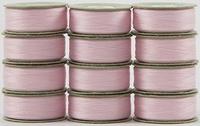 SuperBOBs #628 Baby Pink. L-style Bobbins. 1 Dz.