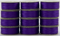 SuperBOBs #606 Dark Purple. L-style Bobbins. 1 Dz.